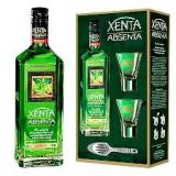 Xenta Absinthe, 0.70 L, 70.0%, gift + 2 glasses + 1 spoon