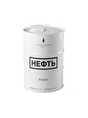 NEFT vodka White Barrel 0,7l 40%