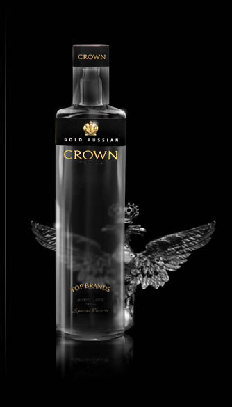GOLD RUSSIAN CROWN VODKA 40% 0,7l