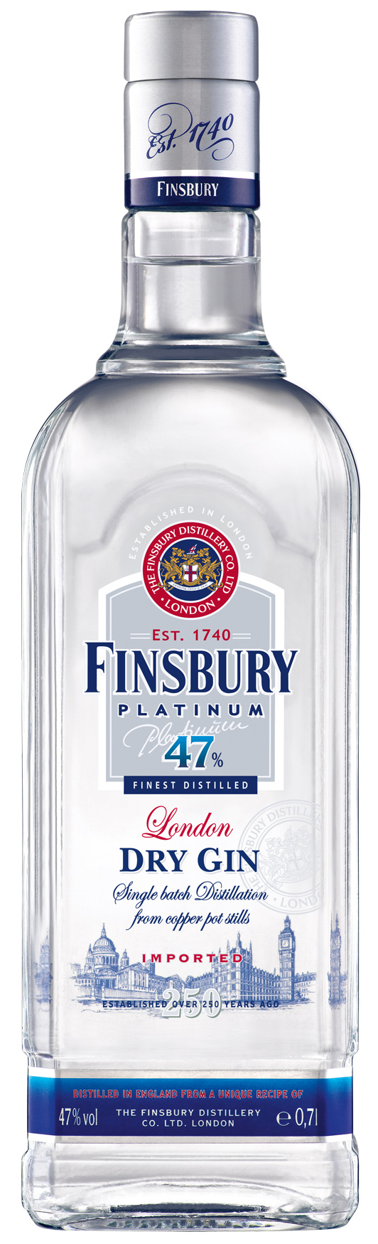Finsbury Platinum London Dry Gin 47% 0,7 l